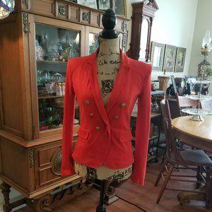 Redish Orange Cremieux blazer size xs